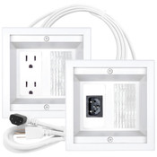 Midlite® Power Jumper HDTV Power Relocation Kit White [22APJW-7R]