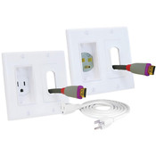 Midlite® 2-Gang Decor In-Wall Power Solution Kit w/6ft Cord White [2A46-W]