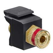 Leviton® QuickPort Binding Post Connector Red Stripe Black [40833-BER]