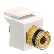 Leviton® QuickPort Binding Post Connector Black Stripe Light Almond [40833-BTE]