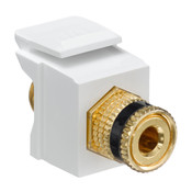 Leviton® QuickPort Binding Post Connector Black Stripe White [40833-BWE]