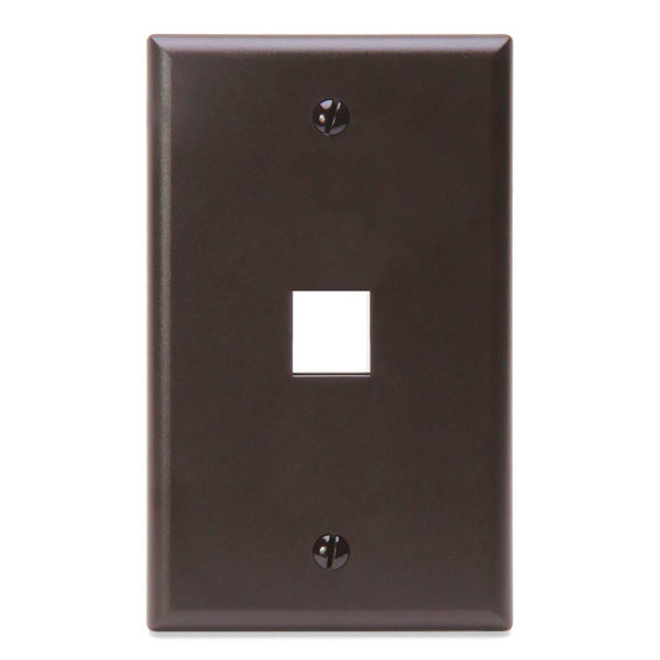 Leviton® QuickPort Wallplate 1 Port Brown [41080-1BP]