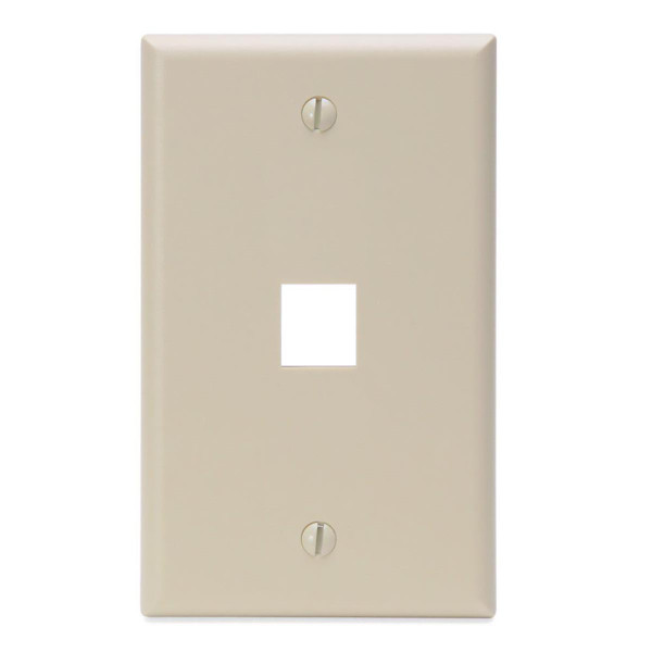 Leviton® QuickPort Wallplate 1 Port Ivory [41080-1IP]