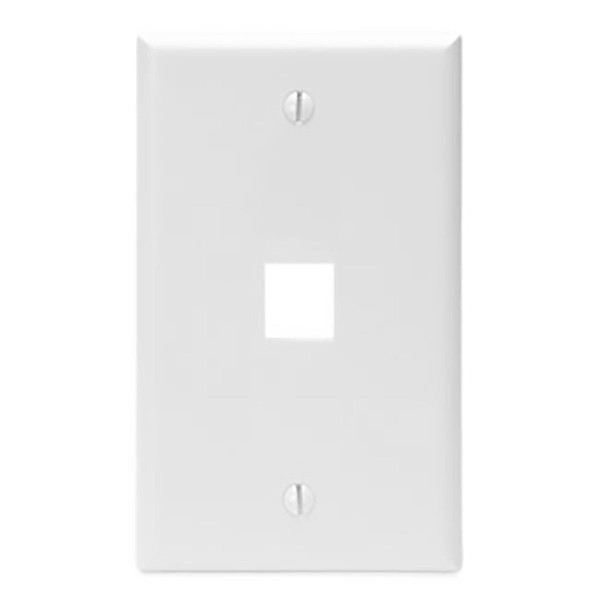 Leviton® QuickPort Wallplate 1 Port White [41080-1WP]