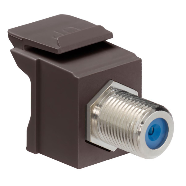 Leviton® QuickPort F Connector Brown [41084-FBF]