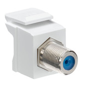 Leviton® QuickPort F Connector White [41084-FWF]