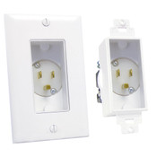 Midlite® Decor Recessed Power Inlet White [4642-W]