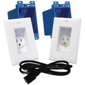 Midlite® Single Gang Decor In-Wall Power Kit White [A46-W]