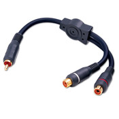 Vanco® RCA Female to 2-RCA Male Y Audio Cable [AGP3EX]