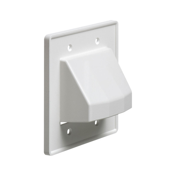 Arlington® Reversible Cable Entrance Plate 2 Gang White [CE2]