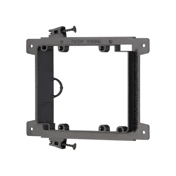 Arlington 2 Gang Screw On Low Voltage Mounting Bracket for New Construction [LVS2]
